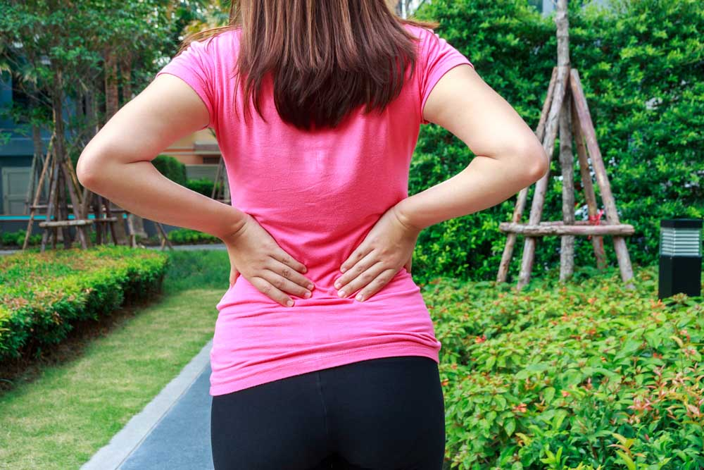 Woman with lower back pain might have sciatica.